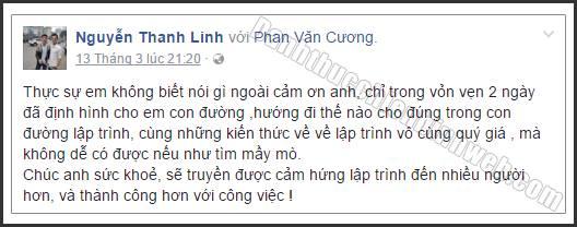 Cảm nhận Nguyễn Thanh Linh về chương trình Đánh Thức Chiến Binh Web