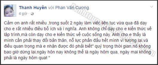 Cảm nhận Thanh Huyền về chương trình Đánh Thức Chiến Binh Web