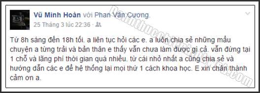 Cảm nhận Vũ Minh Hoàn về chương trình Đánh Thức Chiến Binh Web