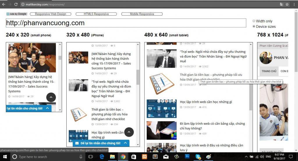 Kiểm tra website chạy trên đa thiết bị - http://mattkersley.com