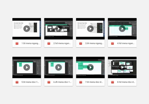 Video hướng dẫn tạo các loại menu website
