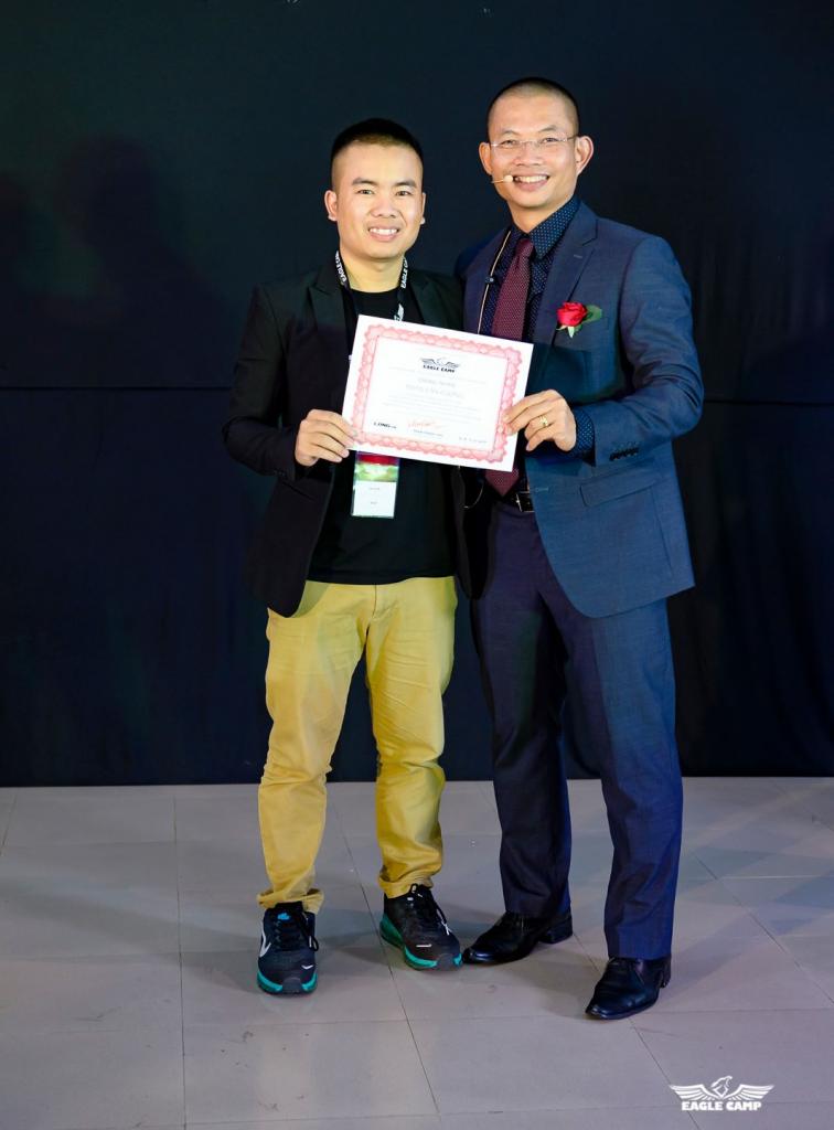 Phan Văn Cương - Tốt nghiệp trại huấn luyện kinh doanh Eaglecamp 9(30/11/2017 - 6/12/2017)